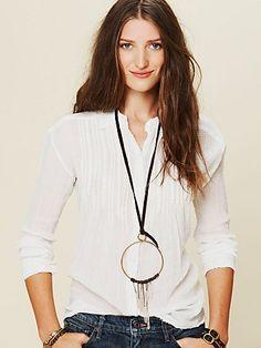 Crystal Hoop Necklace