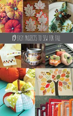 19 Easy Projects to Sew for Fall #fallweddings #weddingfavors