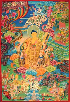ॐ Student of life, dharma and the trancendence of consciousness, leading to Nirvana. Just a few inspiring, or thought-provoking images that I'd like to share. Gautama Buddha, Buddha Buddhism, Tibetan Buddhism, Buddhist Art, Buddha Life, Zen, Thangka Painting, Buddhist Traditions, Wheel Of Life