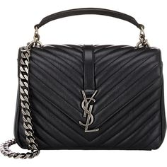 e25c3f6ebd25 Saint Laurent Monogramme Medium Shoulder Bag (20 835 SEK) ❤ liked on  Polyvore featuring