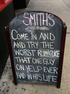 Check Out These 20 Very Funny Chalkboard Bar Signs: 20 Very Funny… Chalkboard Bar, Chalkboard Art Quotes, Funny Bar Signs, Pub Signs, Trail Signs, Beer Signs, Cuba, Art Quotes Funny, Sarcastic Quotes