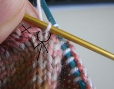 Pick up stitches at gusset without holes