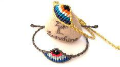 Macrame and Polymer Clay Jewelry by Macrani Macrame Necklace, Macrame Jewelry, Macrame Bracelets, Flower Necklace, Midori, Red String Bracelet, Evil Eye Bracelet, How To Make Beads, Polymer Clay Jewelry