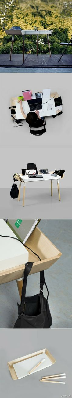 "Lithuania Etc. Etc. Inesa malafej studio designed a desk items can be easily accommodated ""My Writing Desk"". There are three edges of the d ..."