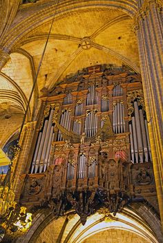 Large and elaborate pipes in Barcelona Cathedral, organ of Cathedral itself is likewise stunning. Landscape Photography Tips, Scenic Photography, Night Photography, Landscape Photos, Organ Music, Sacred Architecture, Cathedral Church, Pipe Dream, Chapelle