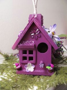 Bird house I love the color!!