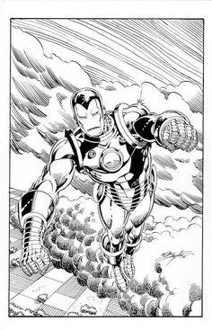 Classic Iron Man in Flight, in Bob Layton's Bob Layton Commissions Comic Art Gallery Room Marvel Comics, Marvel Comic Books, Comic Book Heroes, Comic Books Art, Comic Art, Superhero Coloring, Marvel Coloring, Univers Marvel, Comic Pictures