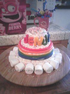 Rainbow Birthday Cake... This website is the Pinterest of birthday cake ideas