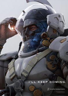 Ora la mascotte di Kojima Productions ha anche un volto Science Fiction, Armadura Sci Fi, Mode Cyberpunk, Kojima Productions, Futuristic Armour, Sci Fi Armor, Future Soldier, Modelos 3d, Armor Concept