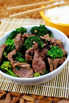 Easy Beef with Broccoli. This is SO good. Make it. Tastes like you ordered the real thing.