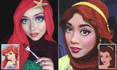 Saraswati, a Malaysian make up artist, uses her hijab to help transform her into incredible versions of popular Disney princesses, villains and superheroes.