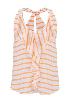 ruffle front striped chiffon tank (original price, $26) available at #Maurices