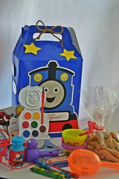 Canastica para fiestecita de Thomas y sus Amigos