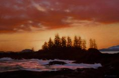 Evening Glow, Frank Island, by Ray Ward