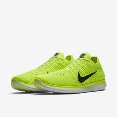 Nike Free RN Flyknit MS Mens Running Shoes Volt Black 842545 700 USA RIO  #Nike #RunningCrossTraining