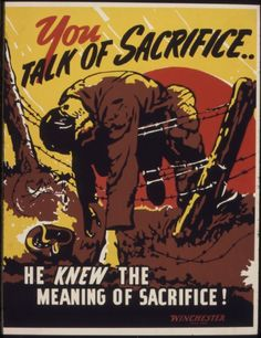 Gloomy WWII Propaganda Poster Shows the Somber Reality of War