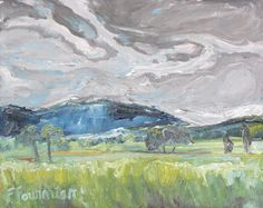 Art Original Plein air Landscape Oil Painting by Fournierpainter