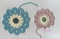 Japanilainen kukka virkkaus ohje virkattu koriste lahja muistaminen tuliainen ristiäislahja vauva kortti tyynyyn kankaaseen mekkoon koruun
