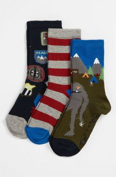 Nordstrom 'Camp Adventure' Socks (3-Pack) (Boys) | Nordstrom