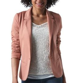 Jersey suit jacket blush pink - Promod