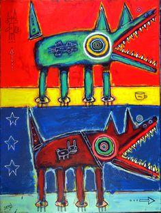 """matt sesow """"dogs""""  as seen at  http://new.sesow.com"""