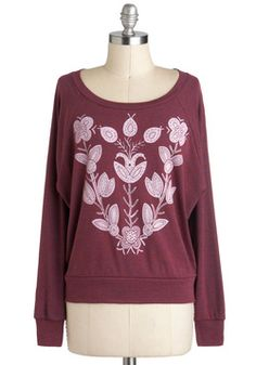 $37.99  Flora-dorable Top, #ModCloth