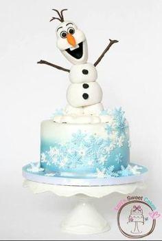 Disney Frozen Olaf cake #DisneyFrozen by crixty