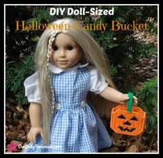 AG Doll Halloween Candy Bucket American Girl Plastic Canvas Pattern