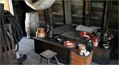Part of the crew's area on the Mayflower II.