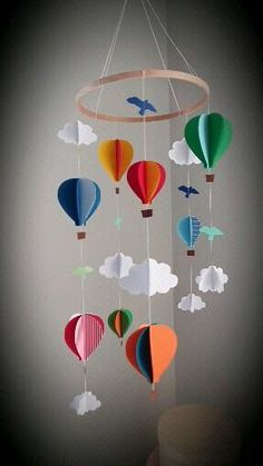 Diy Crafts Hacks, Diy Crafts For Gifts, Diy Home Crafts, Diy Arts And Crafts, Creative Crafts, Decoration Creche, Paper Decorations, Homemade Wall Decorations, Diy Party Decorations