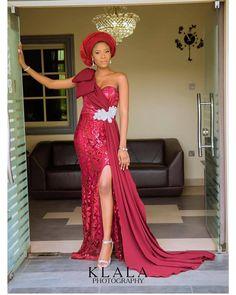 awoyemi in Terrie… Diyanu - Aso Ebi Styles Aso Ebi Lace Styles, Lace Gown Styles, African Lace Styles, African Lace Dresses, Nigerian Lace Dress, Nigerian Dress Styles, Nigerian Outfits, African Fashion Ankara, Latest African Fashion Dresses