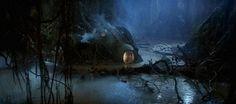 Yoda's hut in the Dagobah Swamp