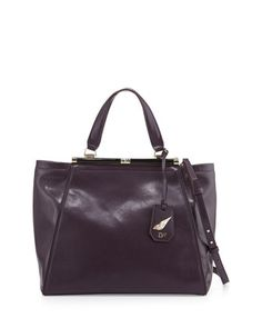 440 Runaway Leather Tote by Diane von Furstenberg