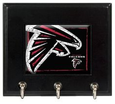 NFL Atlanta Falcons Wood Keyhook Rack by Great American Products. $19.99. Decorated with a high-quality team logo.. Feature three heavy-duty metal hooks.. High-quality team graphics. This matte black key hook rack is perfect for just about any decor!