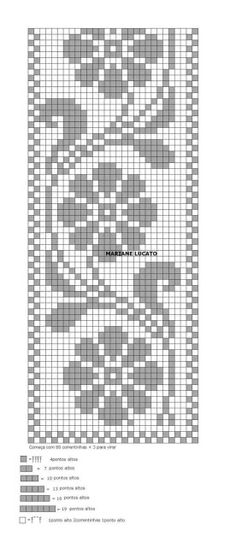 Home Decor Crochet Patterns Part 150 - Beautiful Crochet Patterns and Knitting Patterns Cross Stitch Bookmarks, Cross Stitch Borders, Cross Stitch Designs, Cross Stitching, Cross Stitch Patterns, Filet Crochet Charts, Knitting Charts, Crochet Stitches, Knitting Patterns
