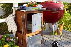 Weekend Project: Build an Outdoor Grilling Workstation from Planter Boxes...definitely could make this cheaper than they do