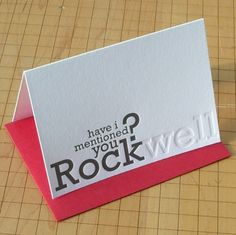 These are great! I love typefaces. Clever typography cards