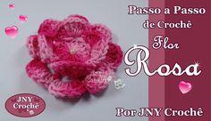 Passo a Passo de Crochê Flor Rosa por JNY Crochê