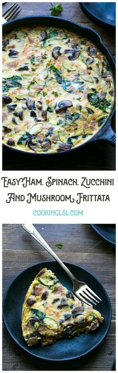 Easy-Ham-Spinach-Zucchini-And-Mushroom-Frittata-Recipe The Perfect Healthier Breakfast #ad #BeyondTheSandwich
