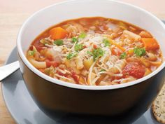 Minestrone with Fresh Parmesan