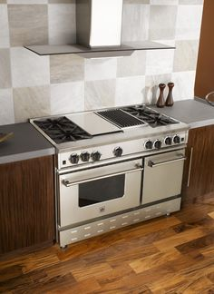 "BlueStar 48"" Freestanding Range with a Charbroiler and Griddle"