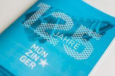"""SPORT MÜNZINGER / """"125 Jahre"""" Jubiläumskampagne / #Retro #Illustration #Beileger #Prospekt #Broschur #Sportswear / by Zeichen & Wunder, München"""
