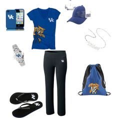 Kentucky Wildcats Head-to-Toe Ensemble, created by ajudson on Polyvore