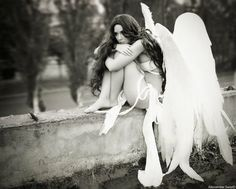 Sad Angel Wallpaper from Angel. Angels Among Us, City Of Angels, Angels And Demons, Fallen Angels, Dark Angels, Sad Angel, Angel And Devil, Angel Wallpaper, Ange Demon