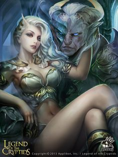 Artist: Unknown name aka Puppet 12345 - Title: The princess of Warcraft adv - Card: Tethys, Satyr's Bride (Cherishing)
