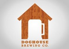Doghouse Brewing Company, good incorporation of product and name into the logo