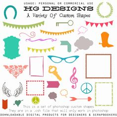 freebie: custom shapes