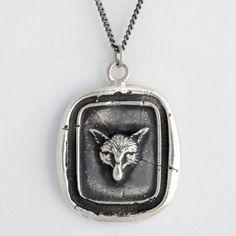 Fox Head Wax Seal Necklace