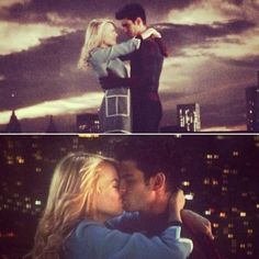 Peter Parker and Gwen Stacy, the amazing Spider-Man 2 scene on the bridge