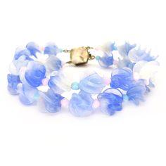 Vintage 1940s Louis Rousselet Pastel Blue Bead Bracelet | Clarice Jewellery
